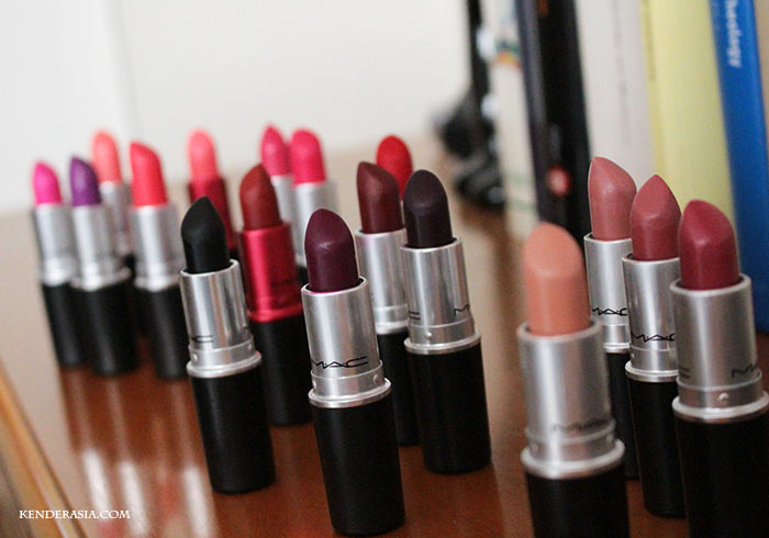 MAC Lipstick Collection: all my MAC lipsticks