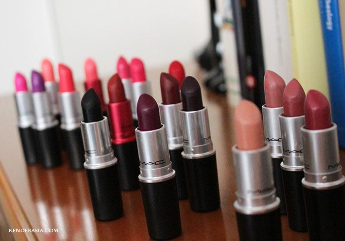 MAC Lipstick Collection: all my MAC lipsticks